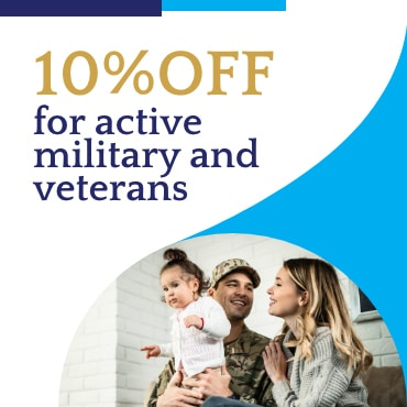 10% off ofr active military and veterans coupan