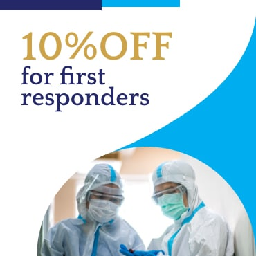 10% off for first repsonders 3