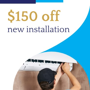 $150 off new installation coupan